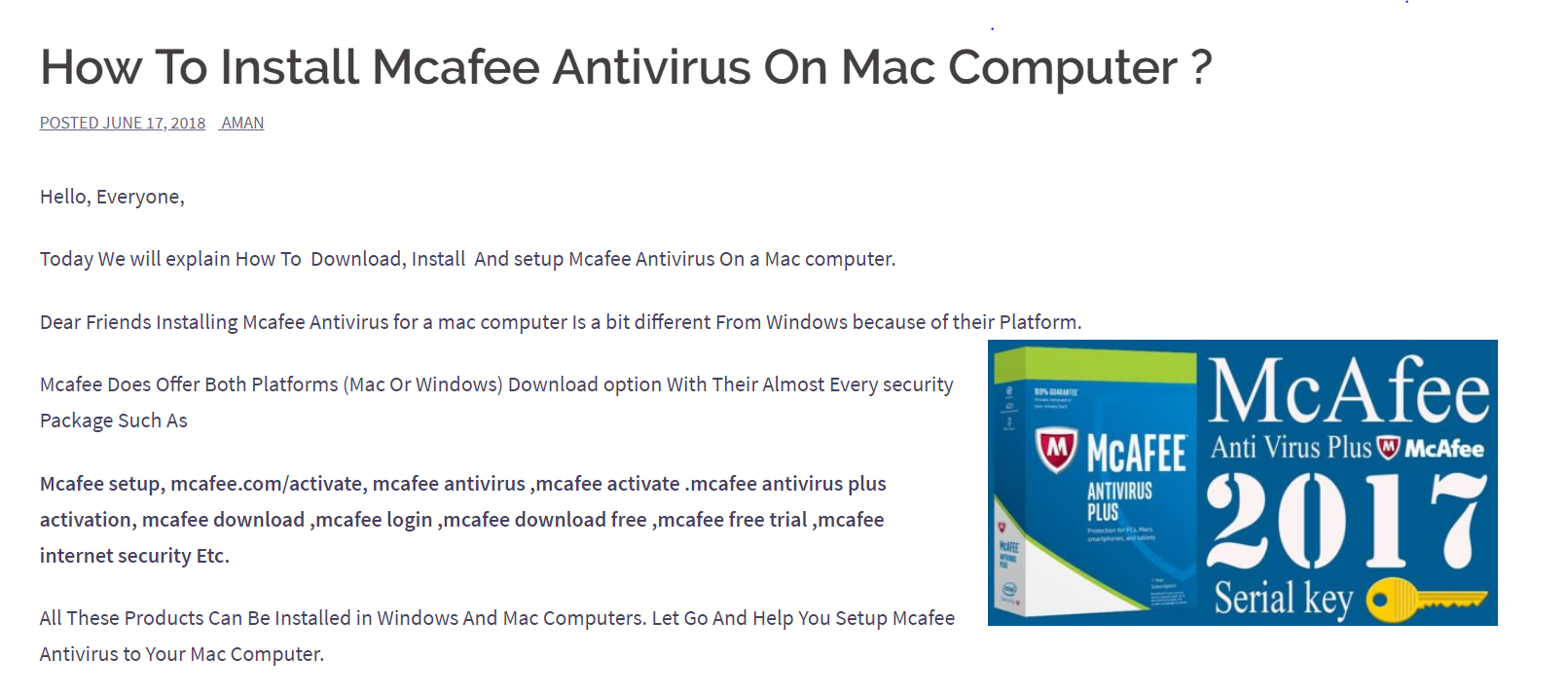 mcafee internet security latest version free download