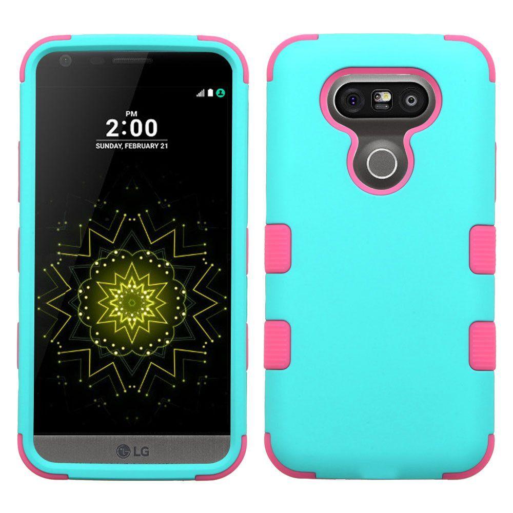 MYBAT TUFF Hybrid LG G5 Case - Teal Green/Pink