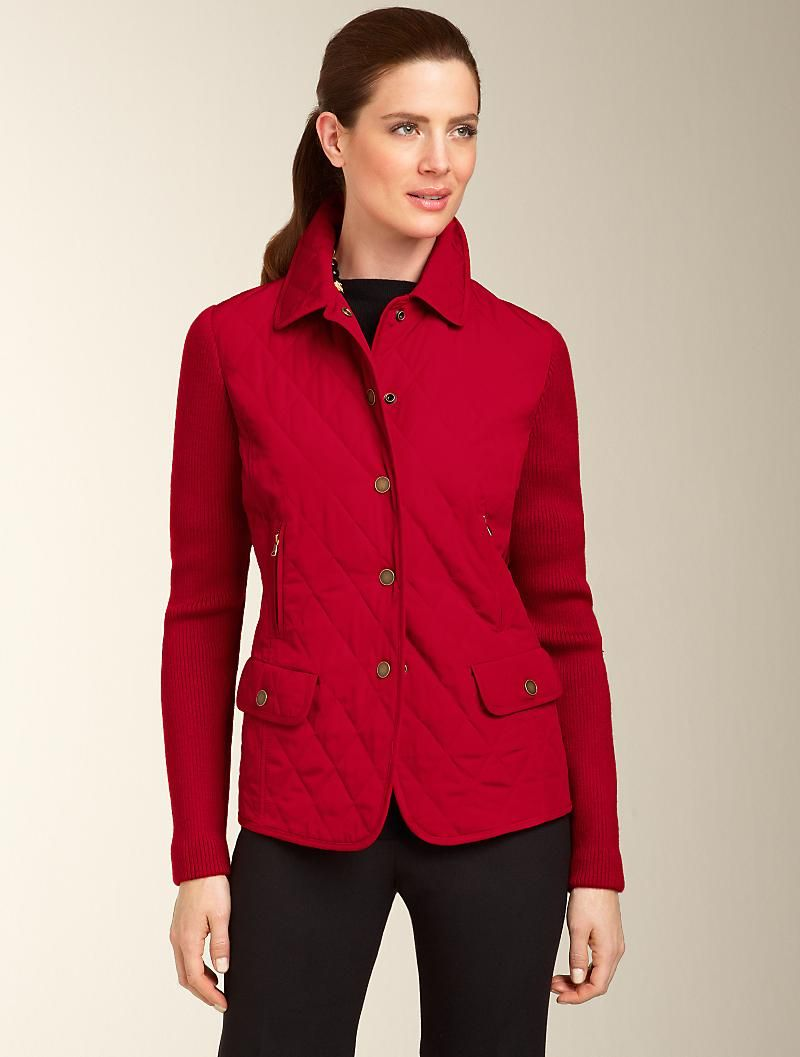 For Fall Talbots Quilted Jacket Outerwear Apparel Clothes For Women Outerwear Jackets Clothes [ 1057 x 800 Pixel ]