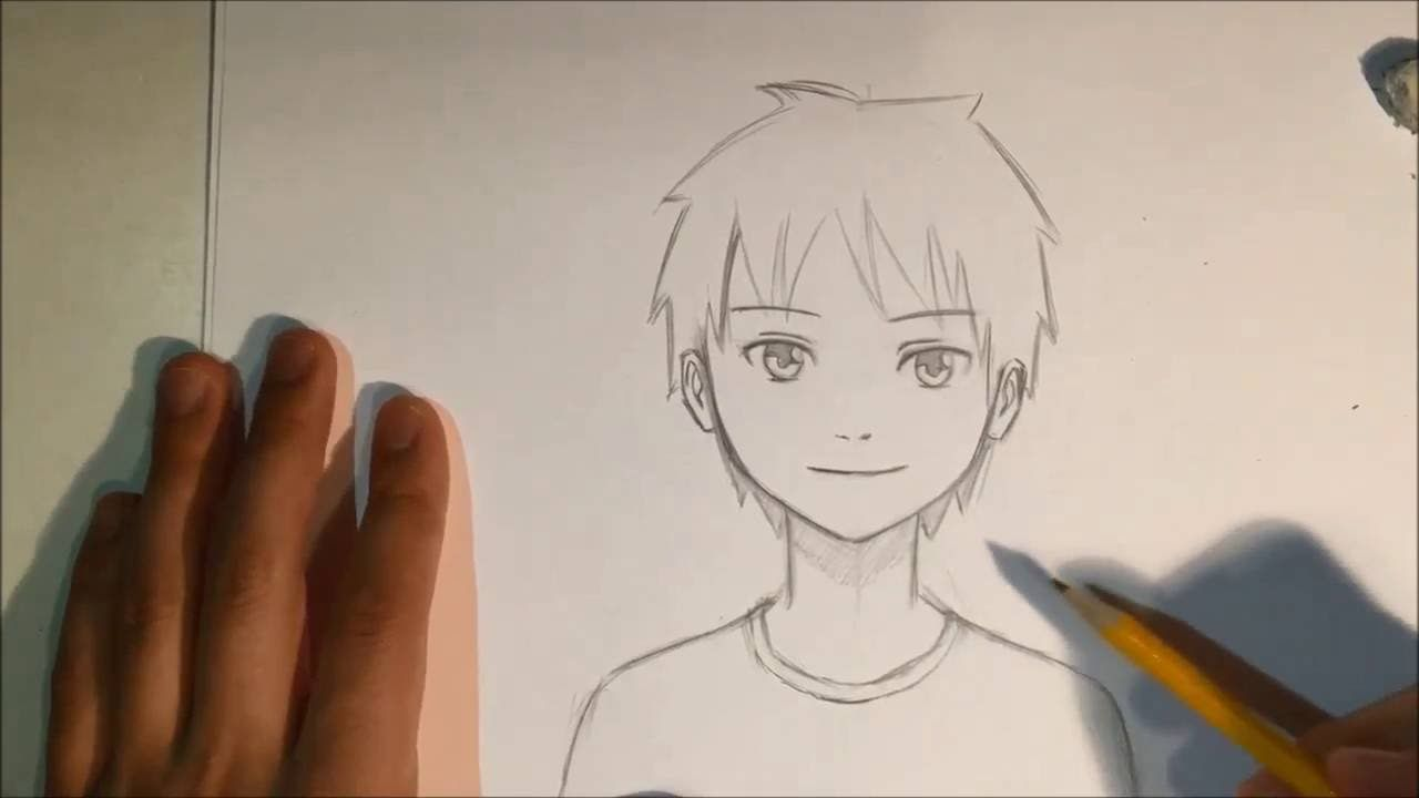 How To Draw Anime Male Face Slow Narrated Tutorial No Timelapse Anime Art Tutorial Anime Art Beautiful Anime Male Face