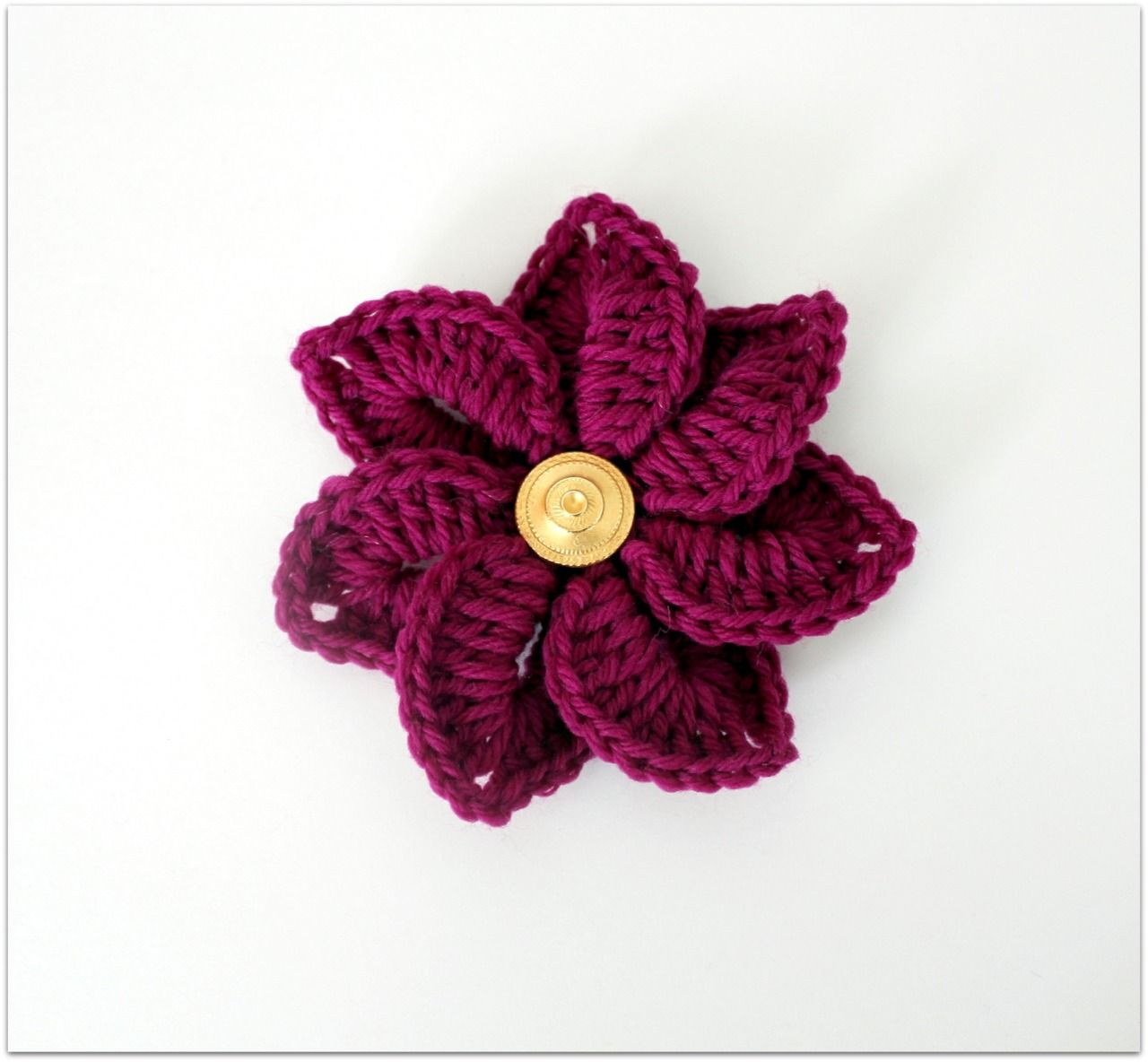Decisions… Decisions… Just crocheted a fuchsia flower. One of my ...