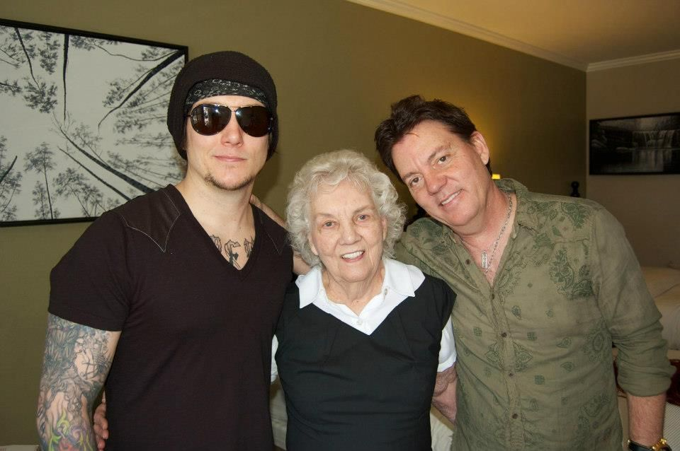 Brian with his grandmother and his dad  | My Heart - Avenged