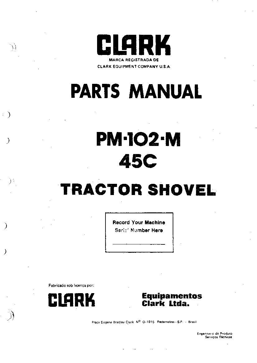 MICHIGAN 45C PM102M WHEEL LOADER Parts Manual PDF Download