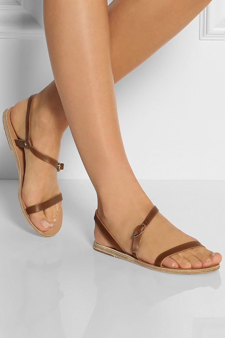 Ancient Greek Sandals - Niove leather sandals
