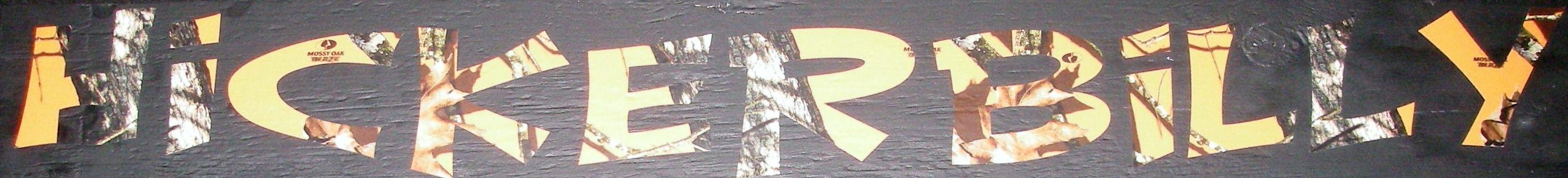 Mossy Oak Blaze Orange Vinyl Decals Blaze Orange Windshield