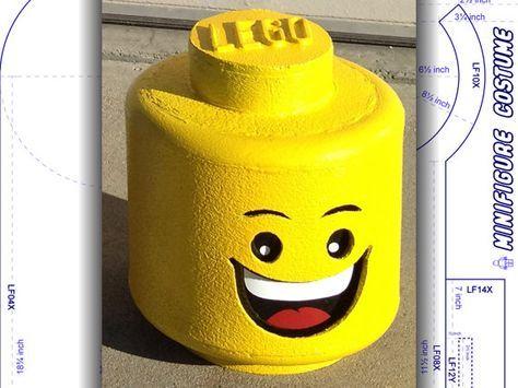 Tutorial: LEGO head. Minifigure costume. DIY patterns & instructions ...