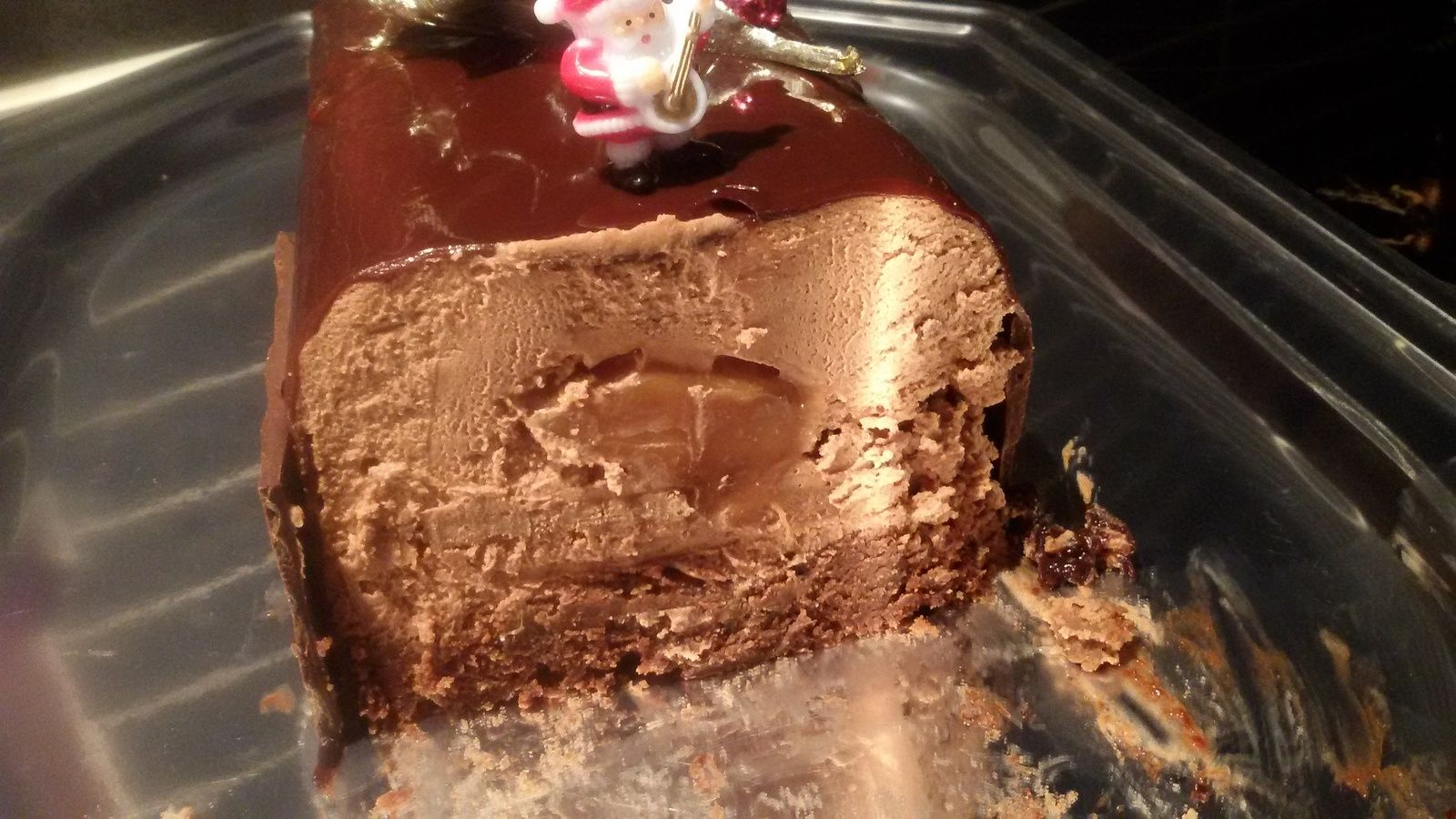 Buche Chocolat Insert Caramel Et Croustillant Praline Buche