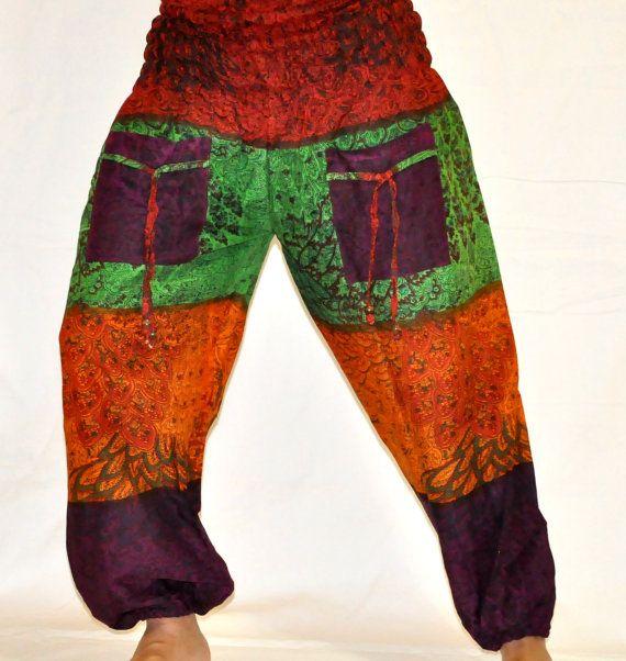 d79a8f3d30ad8 Thai Tie Dye Pants Thai Boho Pants Thai by JaipurHandloom on Etsy, $22.99
