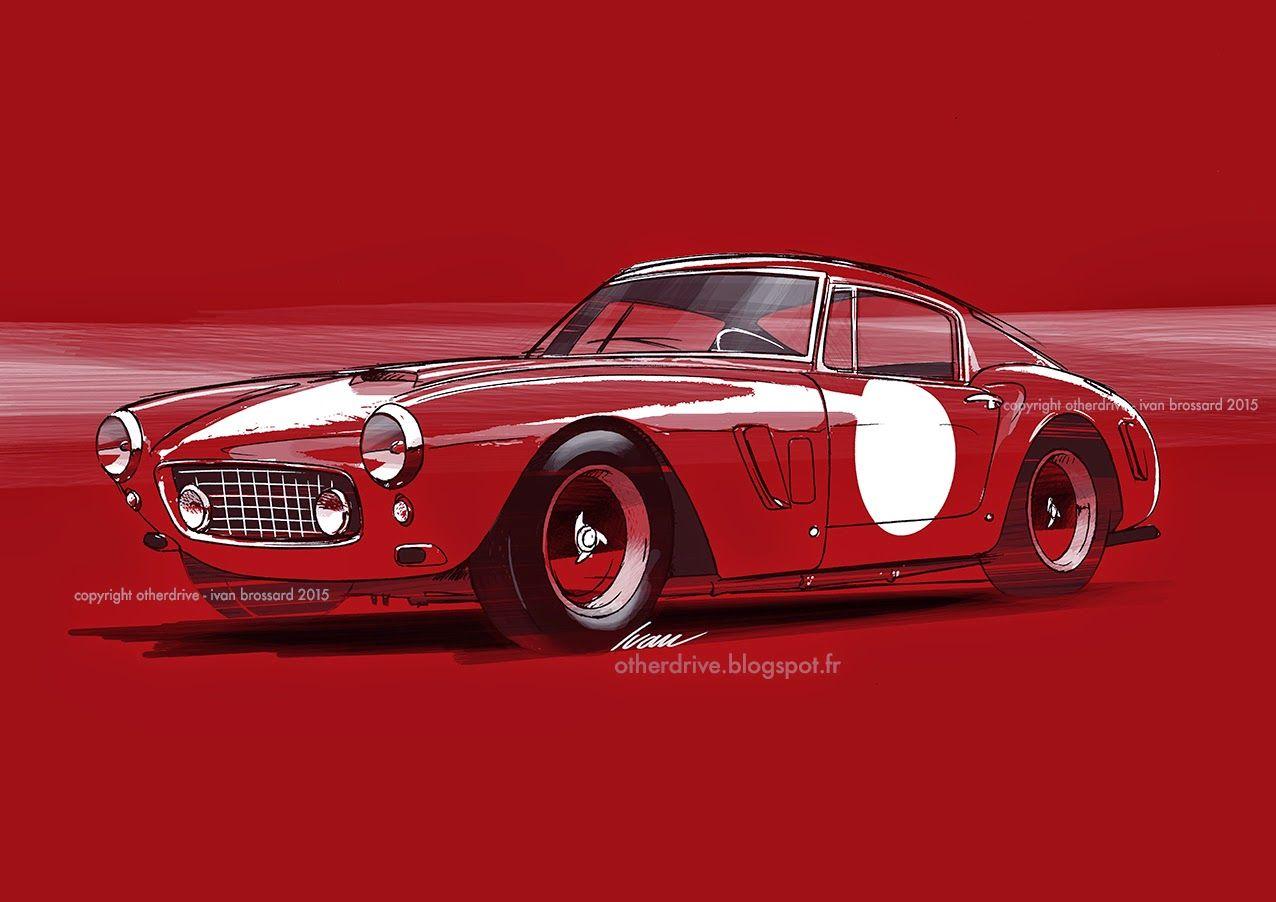 Ferrari 250 GT SWB Berlinetta | Dessin voiture de course ...