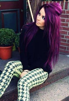 How to Color Your Hair Using Purple Hair Dye | hair products ...