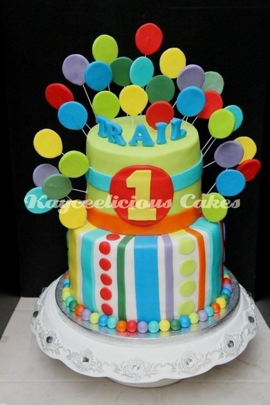 Color Burst Childrens Birthday Cakes Cake Decorating 1s