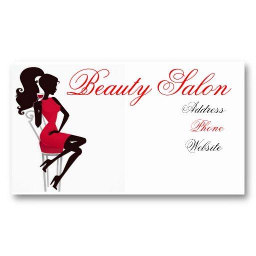 Beauty Salon Business Card Zazzle Com Beauty Salon Business Cards Beautician Business Cards Beauty Salon