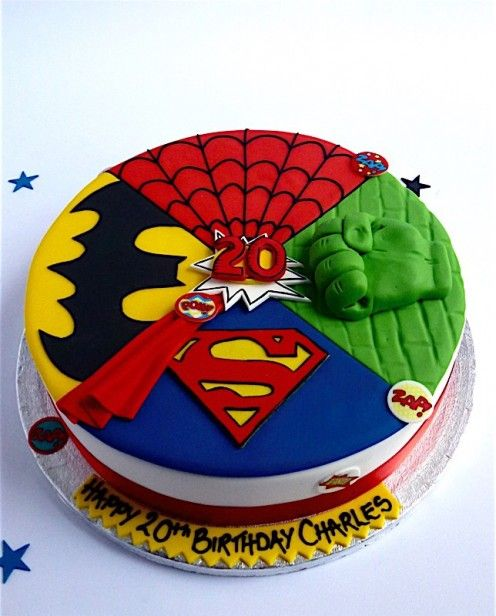 Excellent Super Hero Superhero Birthday Cake Boy Birthday Cake Superhero Personalised Birthday Cards Veneteletsinfo