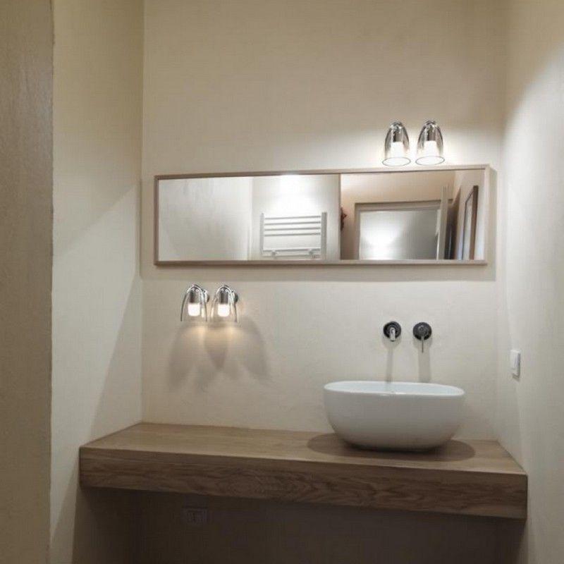 Luminaire salle de bains - Applique IP S7 IP44 - Acier brossé ...