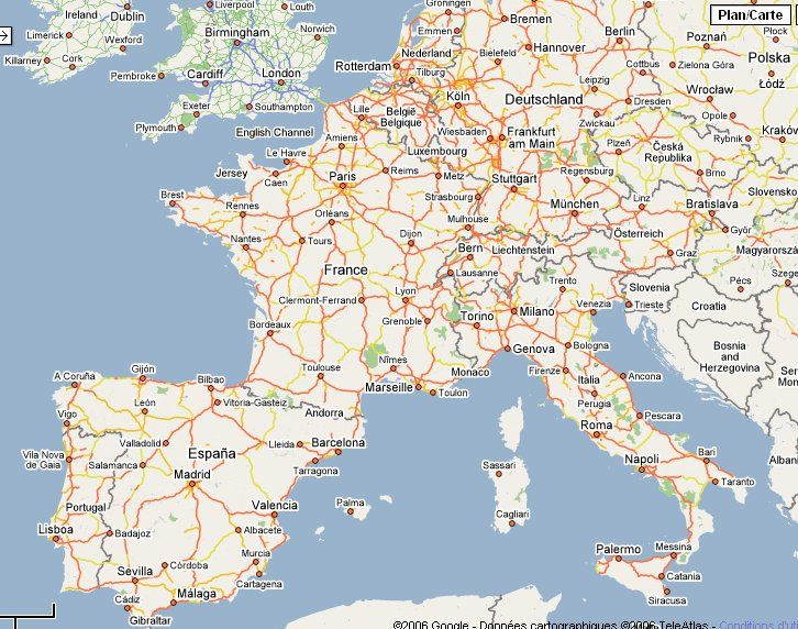 Google Earth Map Europe | World Map | Pinterest