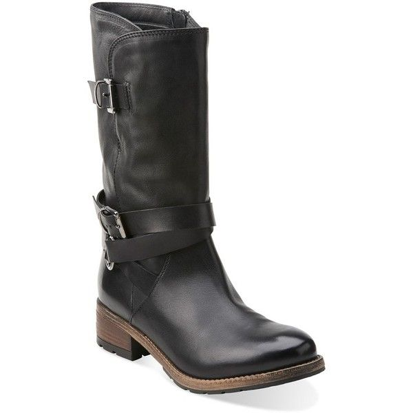 Clarks boots, Leather biker boots