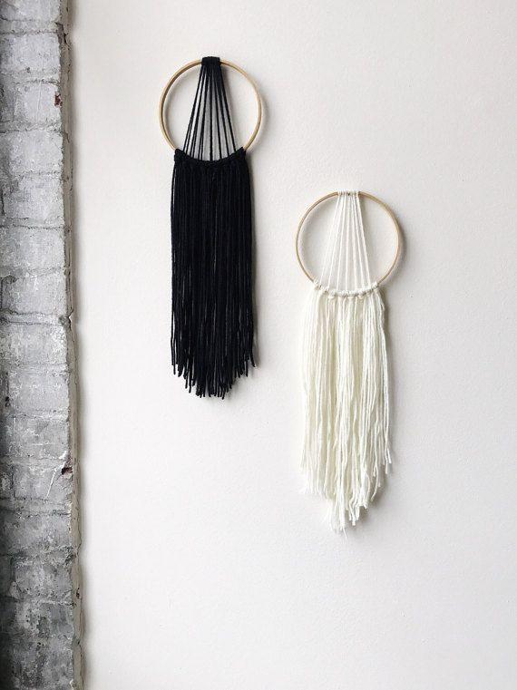 Modern Dream Catcher Yarn Wall Hanging Boho By Geminirainboutique