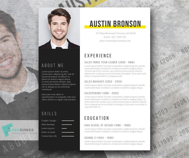 Contrast The Free Fill In The Blank Resume Design Freesumes Resume Design Resume Template Free Resume Design Free