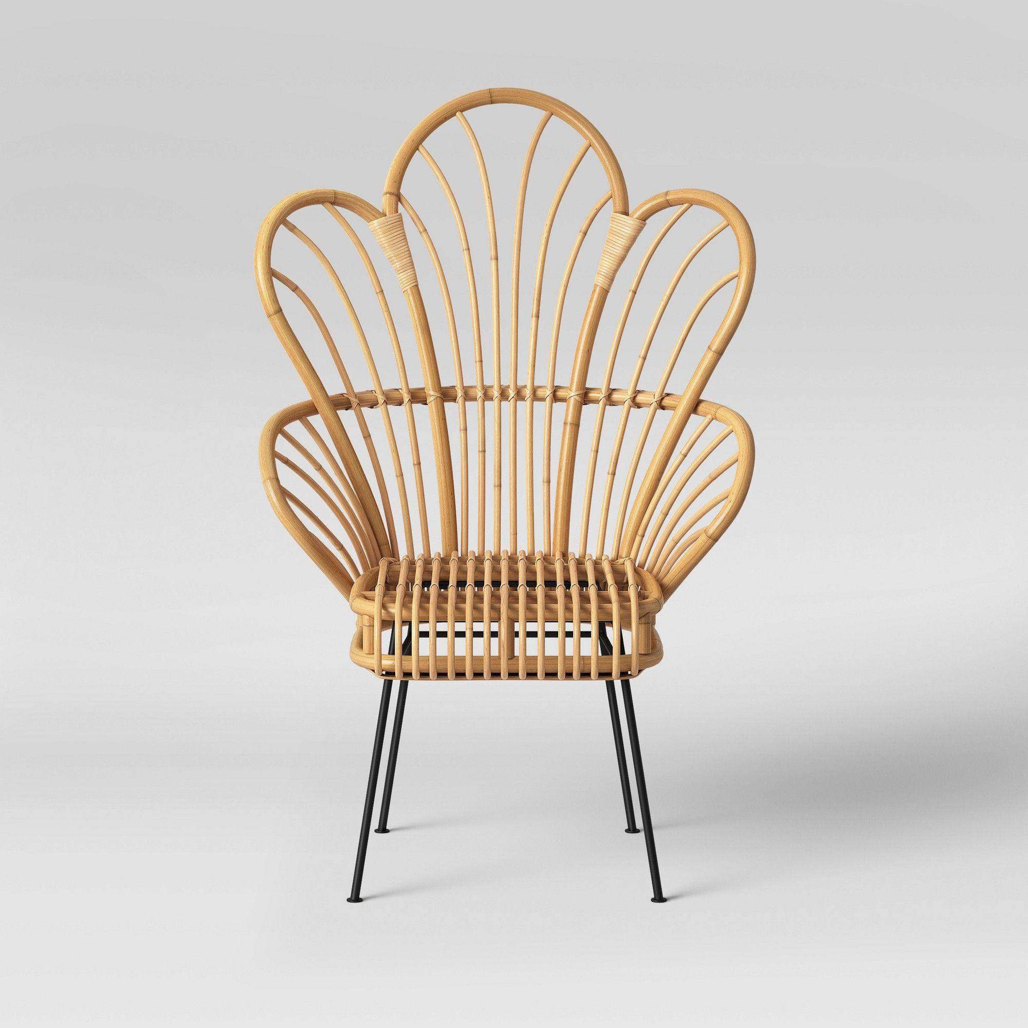 Avocet Rattan Fan Back Accent Chair Opalhouse Adult