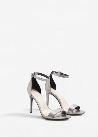 9cc6f5897 Metallic ankle-cuff sandals - Woman