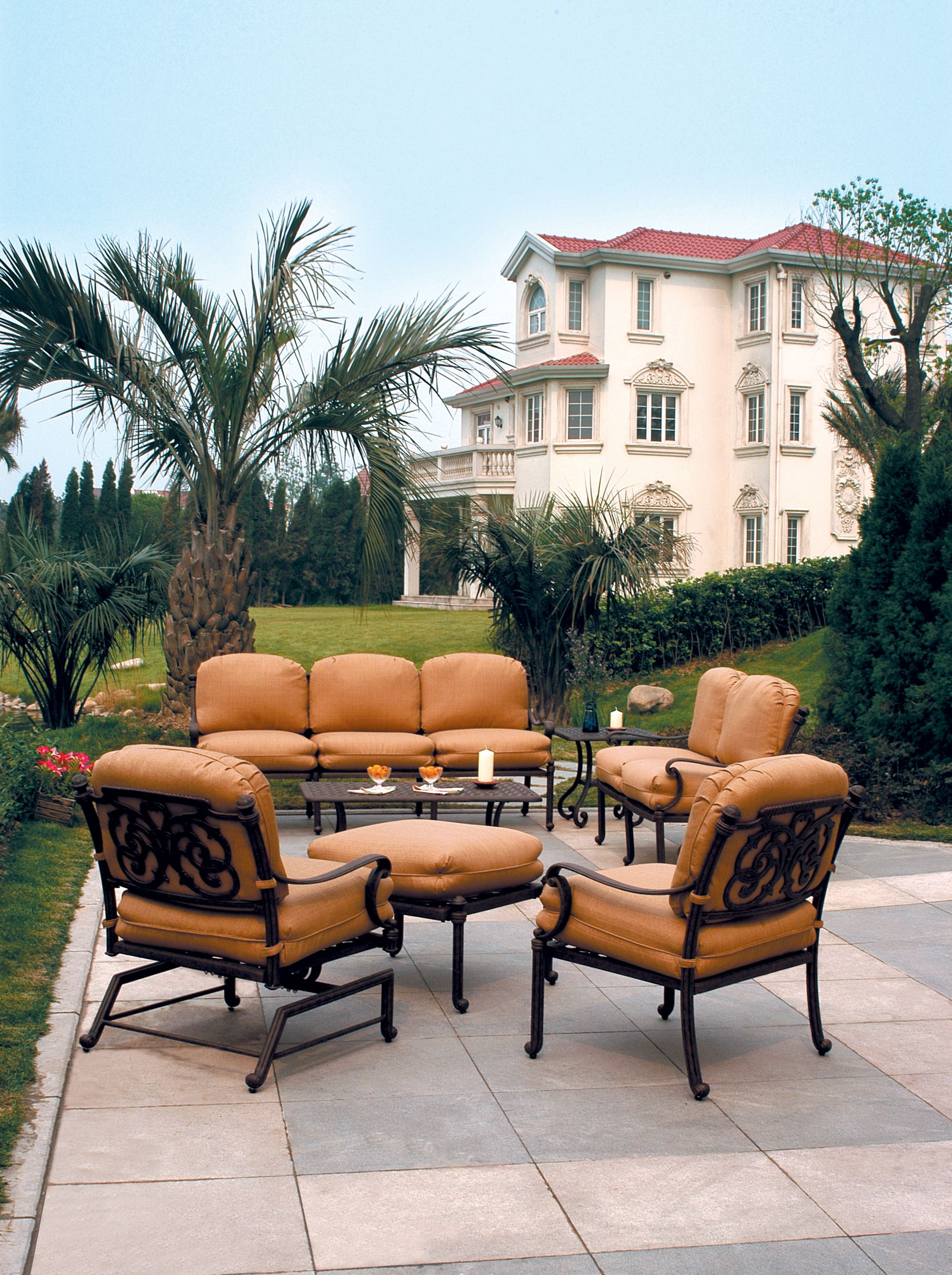 Deep Seating Patio Furniture Cushions: St. Augustine Collection. Rust Proof Cast