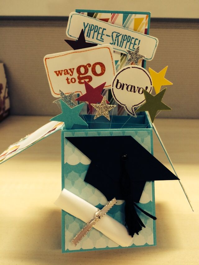 Graduation Card In A Box Pop Up Box Cards Cards Handmade Pop Up Cards
