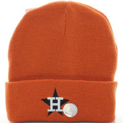 ecaf70d75 Houston Astros Baseball Cuff Beanie Knit Hat Cap Orange MLB. $8.93 ...