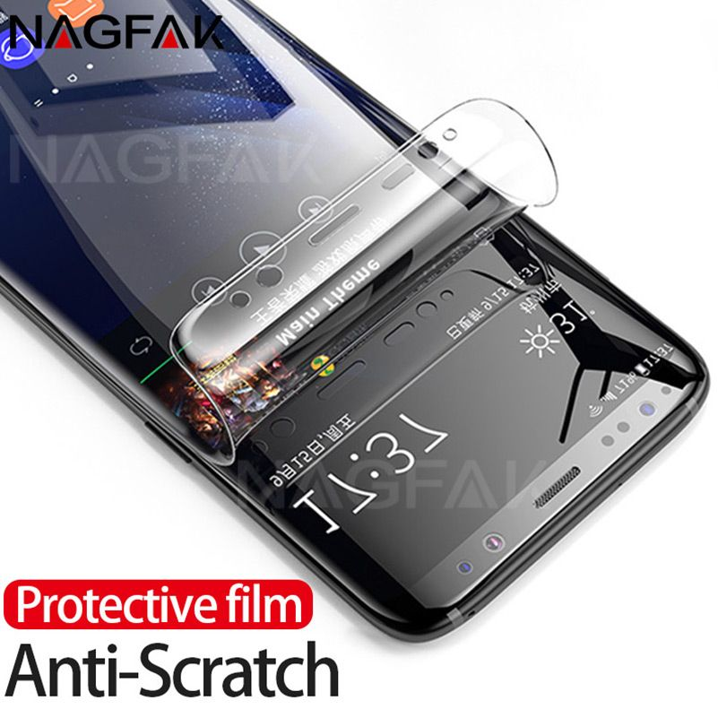 Nagfak 3d Gebogene Displayschutzfolie Fur Samsung Galaxy S9 S9plus S8 S8plus Hinweis 8 S7 Rand Weiche Schutzfolie Nicht Gehartetem Glas Samsung Galaxy Galaxy Samsung Galaxy S9