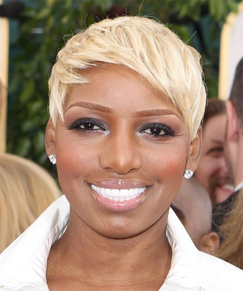 80s hair style nene leakes casual layered pixie hairstyle 6251