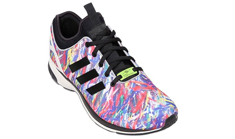 New adidas Originals ZX Flux Exclusive Multi Color Techno Sneakers .