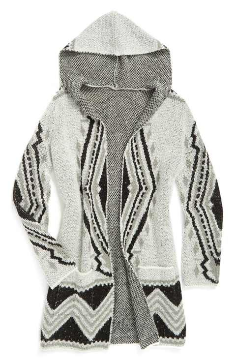 03c4225ff1 Tucker + Tate Hooded Open Duster Cardigan (Big Girls)