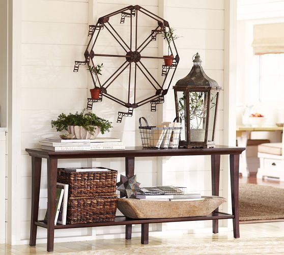 Metropolitan Long Console Table Pottery Barn Dining Room