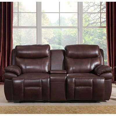 Amax Sanford Leather Reclining Loveseat