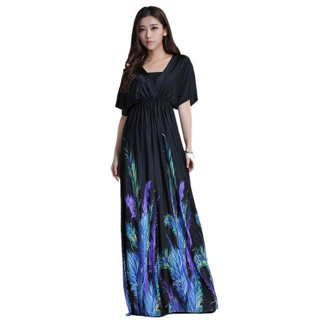 ee6541702a0 Women Summer Boho dress Vestidos Largos Robe Femme Beach Dress Plus Size 6XL  Bohemian Maxi Dress