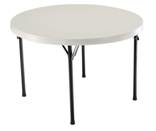New 2968 Lifetime Patio 48 Round Plastic Folding Table Folding Table Lifetime Tables Card Table And Chairs