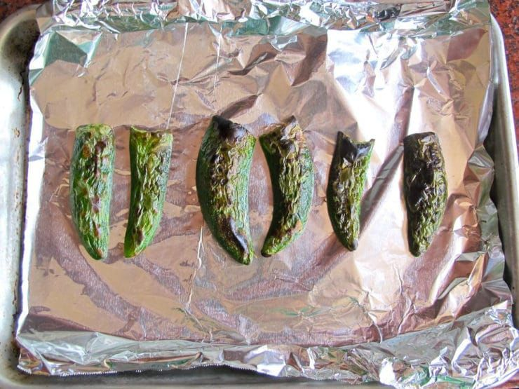 How to Roast Jalapeños - oven roasted, under the broiler, or on a gas stovetop. Mellows the spice and adds a delicious smoky flavor. |