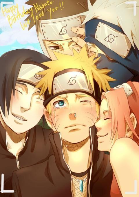 Sai , Naruto , Sakura , Yamato-sensei and Kakashi-sensei ...