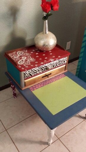 Repainted Fun Funky End Table