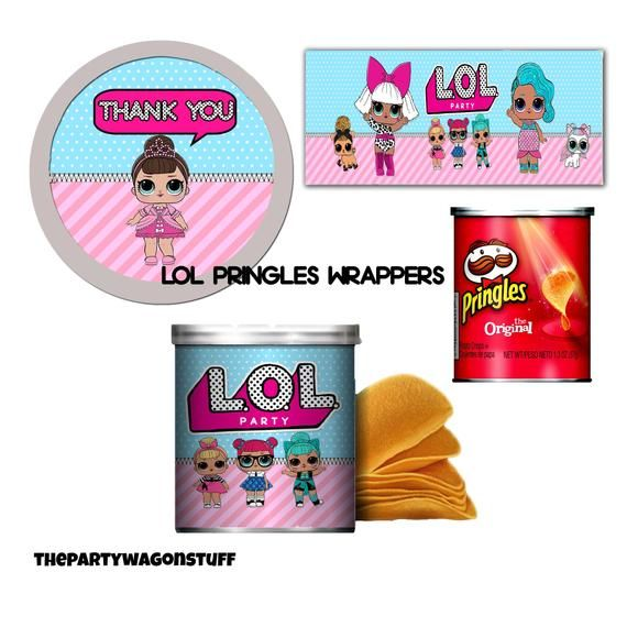Lol Surprise Mini Pringles Wrappers