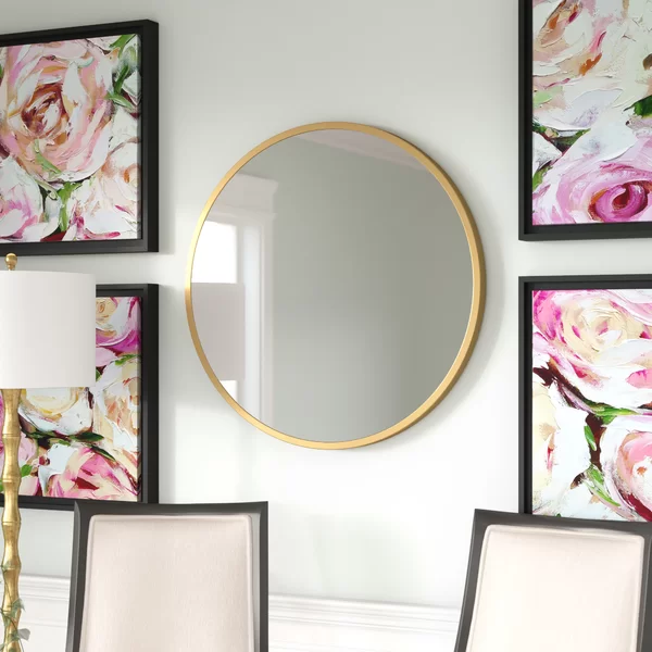 Cecilio Glam Accent Mirror In 2020 Mirror Round Wall Mirror Accent Mirrors