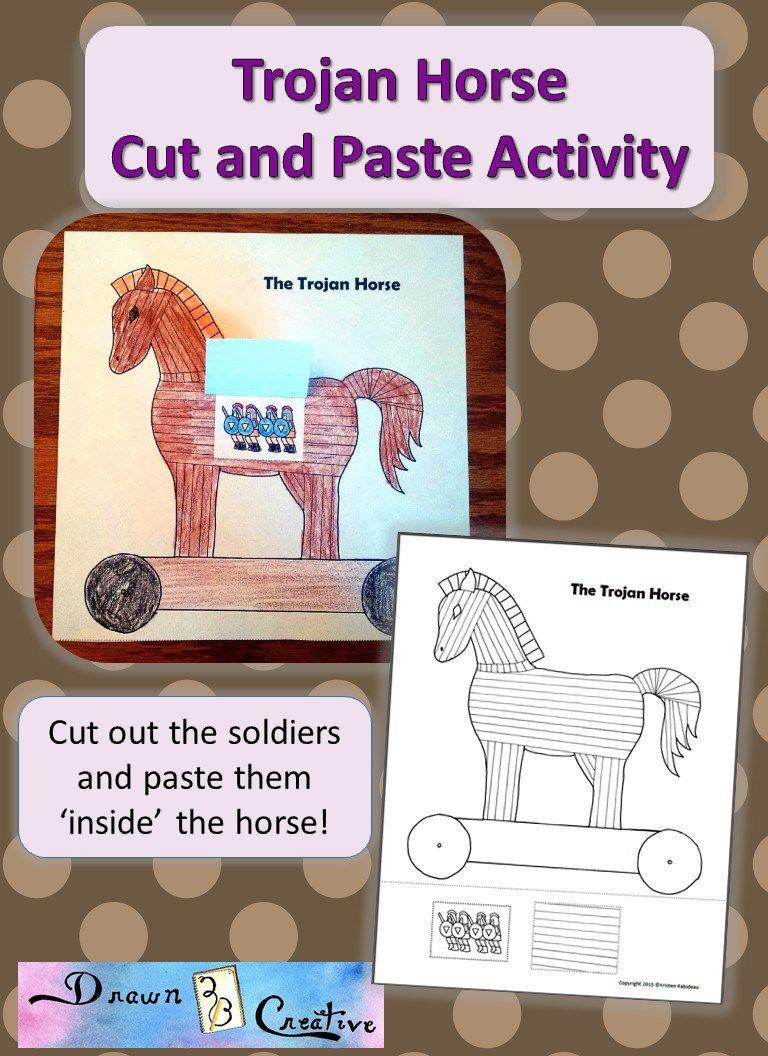 Trojan Horse Printable Trojan Horse Horses Turkey Culture