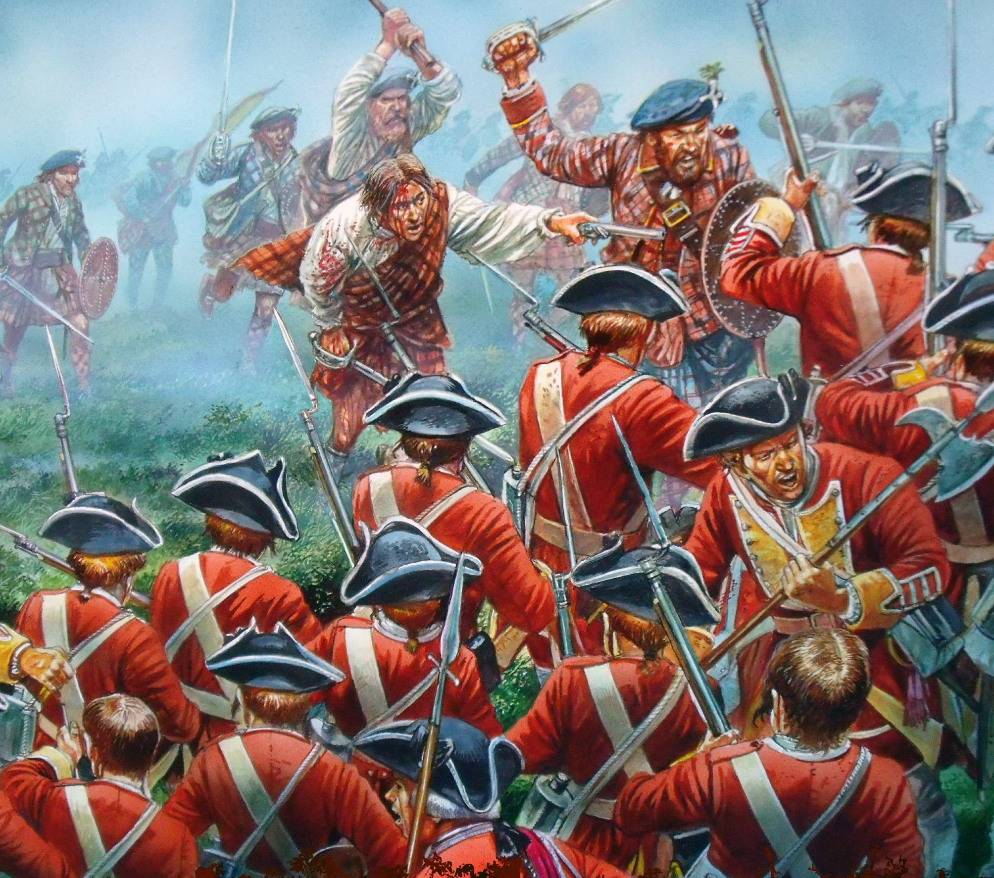 The Jacobite Rebellion 1745 - British Redcoats receiving a ...