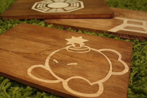 DIY geek wood cutting boards