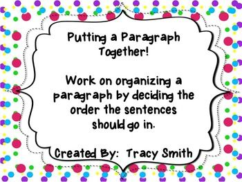 how to write one paragraph