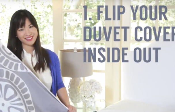 The Easiest Way To Put On A Duvet Cover Best Of The Web Duvet Covers Duvet How To Make Bed