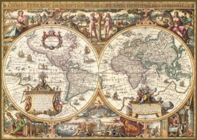 Antique world map 1000pc textured jigsaw puzzle by ravensburger antique world map 1000pc textured jigsaw puzzle by ravensburger gumiabroncs Images