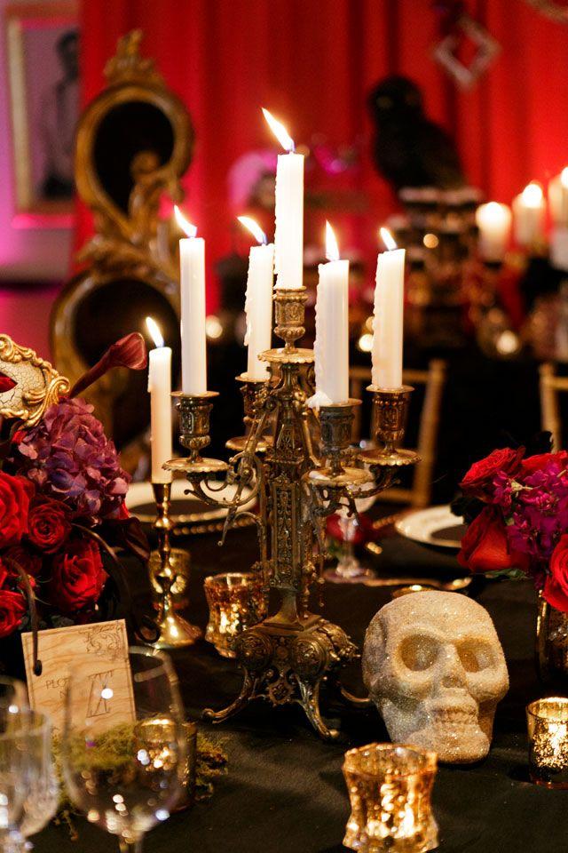 Darkly Chic Halloween Wedding Inspiration Wedding themes