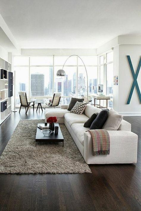 Un salon rectangulaire à haute valeur déco | Salons rectangulaires ...