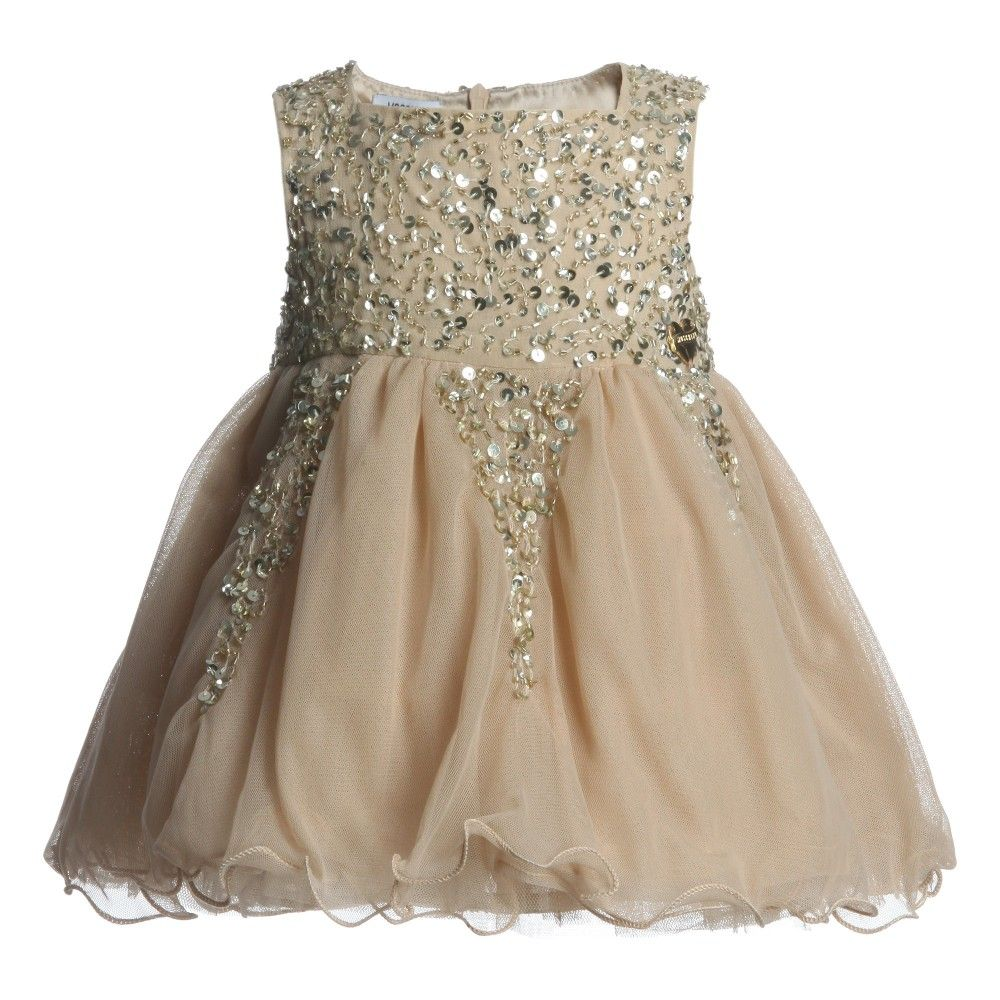 Moschino Baby Girls Gold Tulle Dress