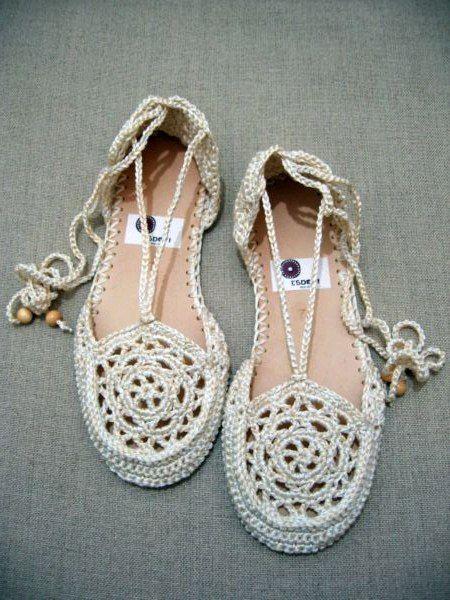 schuhe mit faeden selber dekorieren, ben ♥ İyİsİmİ: Örgü sandalet yapımı | denenecek projeler, Design ideen